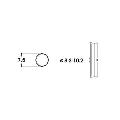 AROS ADHERENCIA 8,3 - 10,2 mm (10 unidades)