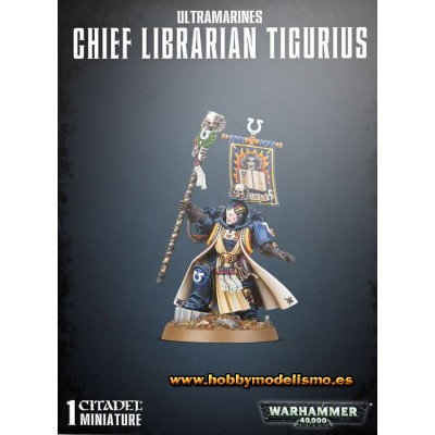 SPACE MARINE CHIEF LIBRARIAN TIGURIUS - GAMES WORKSHOP 48-100