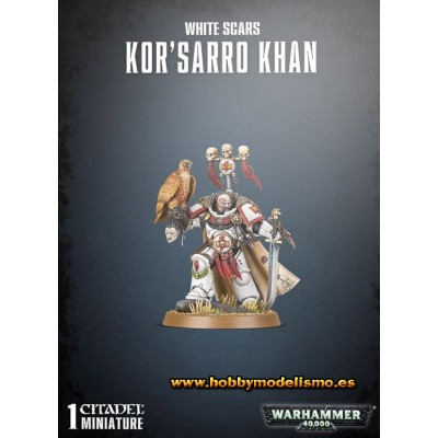 SPACE MARINE WHITE SCARS KOR-SARRO KHAN - GAMES WORKSHOP 48-88
