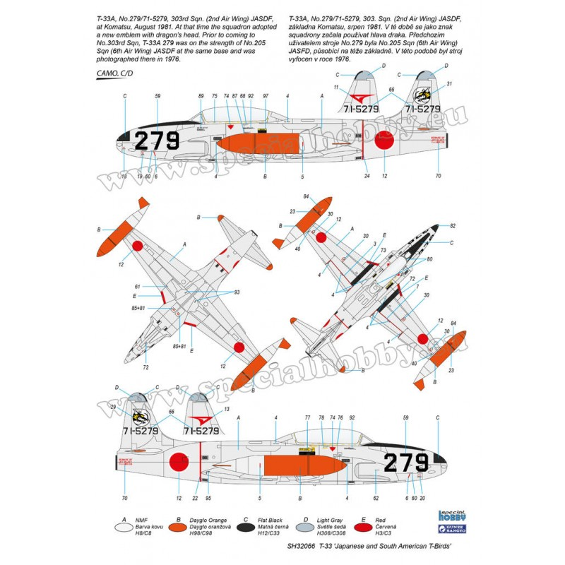 LOCKHEED T-33 SHOOTING STAR (JAPON) -1/32- Special Hobby SH32066 on