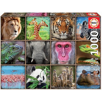 PUZZLE 1000 pzs COLLAGE DE ANIMALES - EDUCA 17656