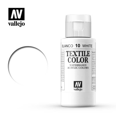 Textile Color: BLANCO (60 ml) - Acrilicos Vallejo 40010
