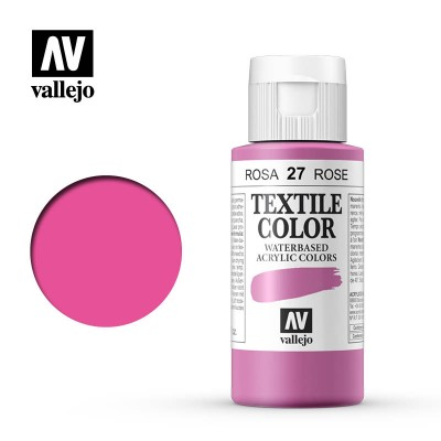 Textile Color: ROSA (60 ml) - Acrilicos Vallejo 40027