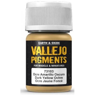 PIGMENTO OCRE AMARILLO OSCURO (30 ml) - Acrilicos Vallejo 73103