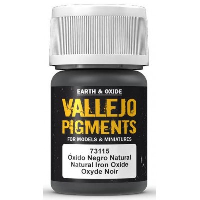 PIGMENTO: OXIDO NEGRO NATURAL (30 ml) - Acrilicos Vallejo 73115