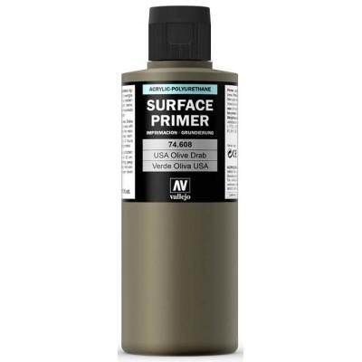SURFACE PRIMER: VERDE OLIVA U.S. (200 ml) - Acrylicos Vallejo 74608