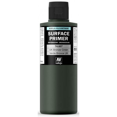 SURFACE PRIMER: VERDE BRONZE UK (200 ml) - Acrylicos Vallejo 74607