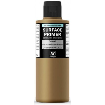 SURFACE PRIMER: GELBBRAUN RAL 8000 (200 ml) - Acrylicos Vallejo 74606