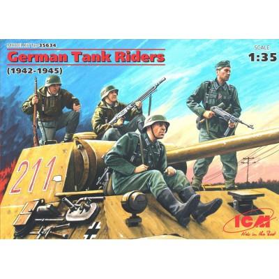 GERMAN TANK RAIDERS (4 FIGURAS) ESCALA 1/35 - ICM 35634