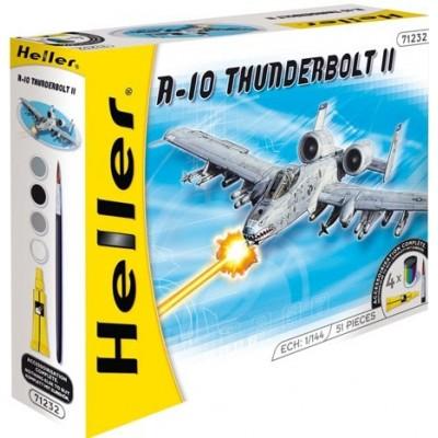 FAIRCHILD REPUBLIC A-10 A THUNDERBOLT II (Pegamento & pinturas) -1/144- Heller 49912