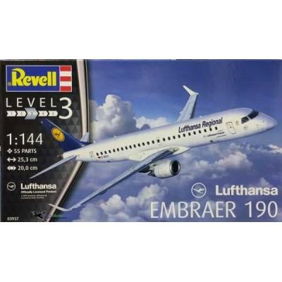 EMBRAER 190 LUFTHANSA - ESCALA 1/144 - REVELL 03937