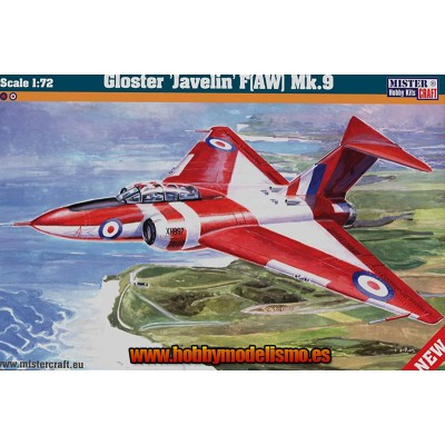 GLOSTER JAVALIN F (AW) MK.9 - ESCALA 1/72 - MISTER HOBBY CRAFT 040444