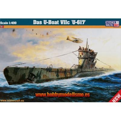 U-BOAT U-617 ESCALA 1/400 - MISTER HOBBY CRAFT 042905