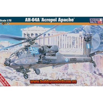 AH-64A ACROPOL APACHE - ESCALA 1/72 - MISTER HOBBY CRAFT - 040390