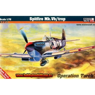 SUPERMARINE SPITFIRE MK-V B Trop -1/72- MISTER HOBBY CRAFT 041922
