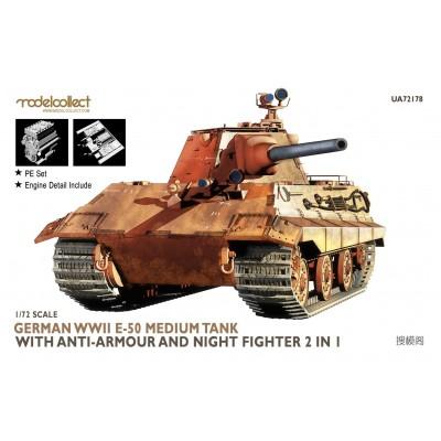 CARRO DE COMBATE E-50 (Combate nocturno) -1/72- Modelcollect UA72178