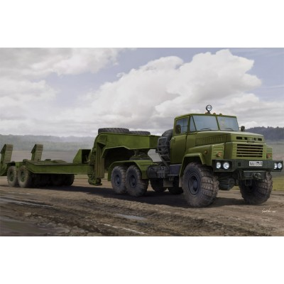 TRACTOR KrAZ-260B & Semitrailer CMAZ/ChMZAP-5247G -1/35- Hobby Boss 85523