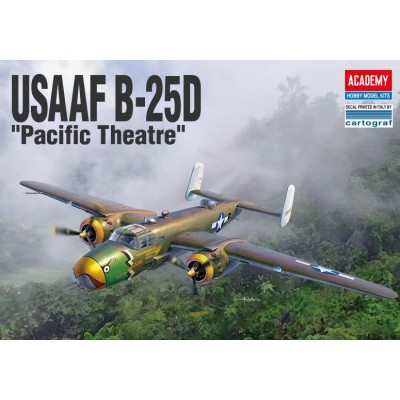 NORTH AMERICAN B-25 D PACIFIC THEATRE - ESCALA 1/48 - ACADEMY 12328