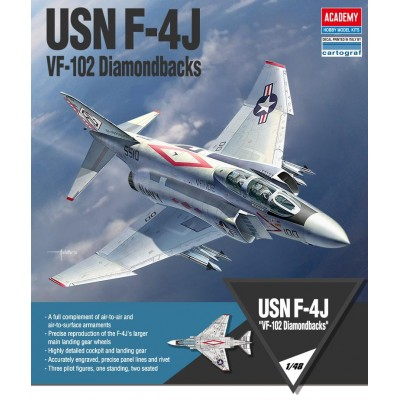 MCDONELL DOUGLAS F-4J USN PHANTOM VF-102 DIAMONDBACKS - ESCALA 1/48 - ACADEMY 12323