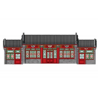 "CASA TIPICA CHINA ""Beijing Siheyuan"" 1/100 - Trumpeter 09001"