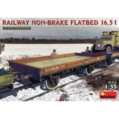 VAGON PLATAFORMA (Sin freno) 16,5 ton. -1/35- MiniArt 39004