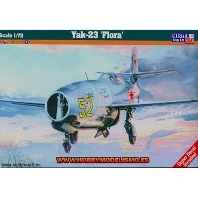 YAK-23 FLORAA - ESCALA 1/72 - MISTERCRAFT 042240 - D224