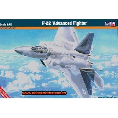 LOCHEED MARTIN F-22 RAPTOR - escala 1/72 - Mister craft 060060 - F06
