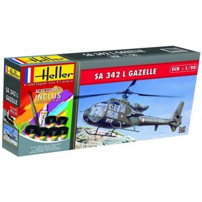 WESTLAND - AEROSPATIALE SA-342 L GAZELLE (Pegamento & Pinturas) -1/50- Heller 56486