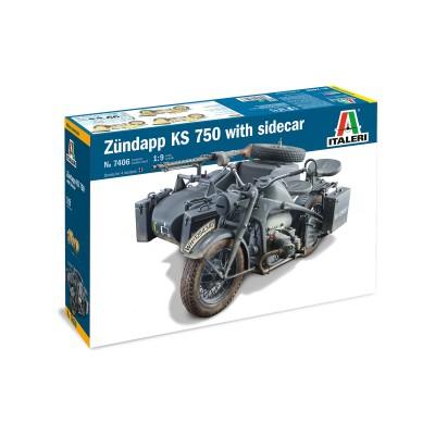 ZUNDAPP KS750 & SIDECAR -1/9- Italeri 7406
