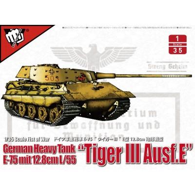 CARRO DE COMBATE E-75 (128 mm. L/55) TIGER III Ausf. E -1/35- Modelcollect UA35016