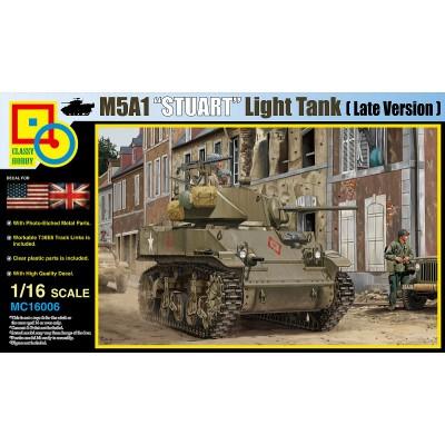 CARRO DE COMBATE M-5 A1 STUART -1/16- Classy Hobby MC16006
