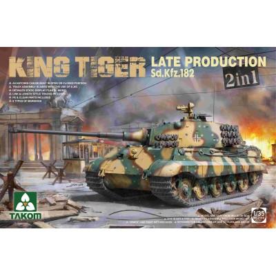 CARRO DE COMBATE Sd. Kfz. 182 KINGTIGER (Late) 2 en 1 -1/35- Takom 2130