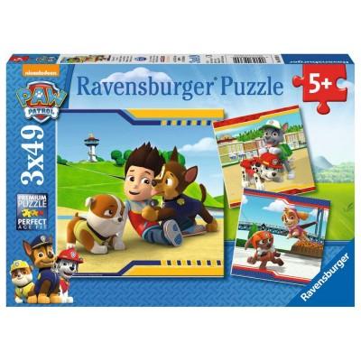 PUZZLE 3 x 49 Pzas PATRULLA CANINA - Ravensburger 09369