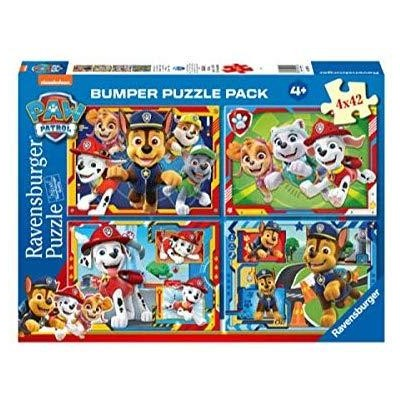 PUZZLE 4 x 42 Pzas PATRULLA CANINA - Ravensburger 05050
