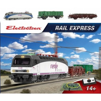 EQUIPO DE INICIACION RAIL EXPRESS 7 -1/87 H0- Electrotren E10121