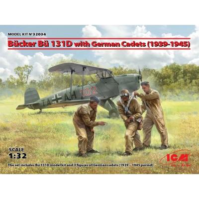 BUCKER BU-131 D JUNGMEISTER & CADETES -1/32- ICM 32034