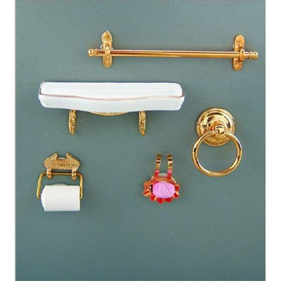 accesorios ba o dorado