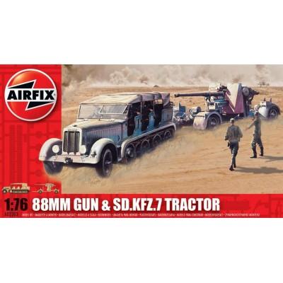 TRACTOR SD.KFZ.7 Y FLAK-36 (88 mm) - Airfix A02303