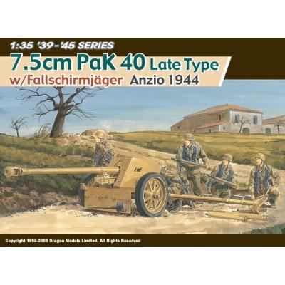 CAÑON PAK 40 (75 mm) LATE Y DOTACION FALLSCHIRMJAGER (Anzio 1944)