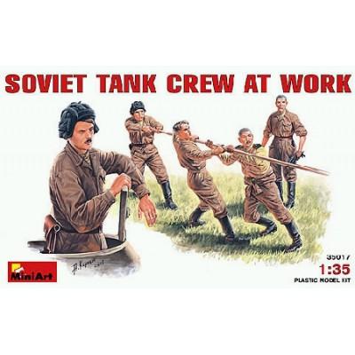 TRIPULACION DE CARRO SOVIETICA TRABAJANDO