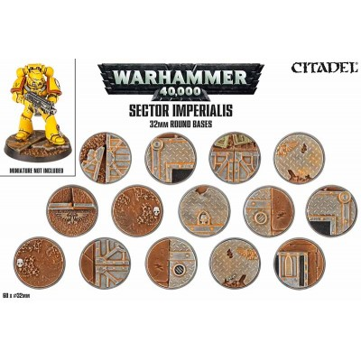 SECTOR IMPERIALIS: BASES 32MM GAMES WORKSHOP 66-91