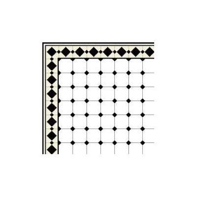 Papel suelo azulejo negro y blanco for Azulejo a cuadros blanco y negro barato