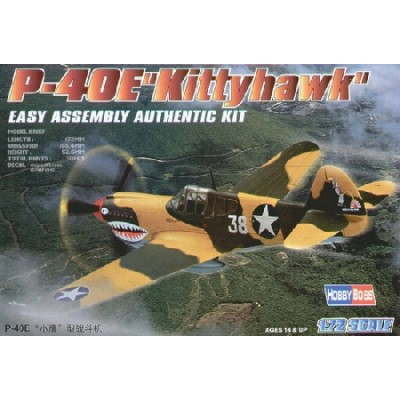CURTISS P-40 E KITTYHAWK -escala 1/72- HOBBYBOSS 80250