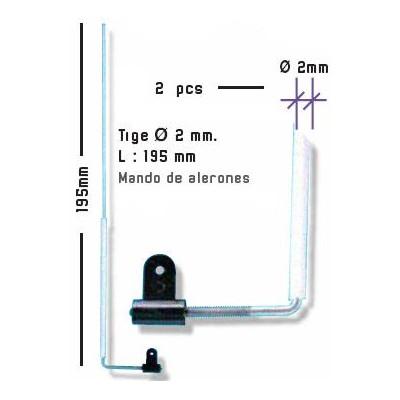 MANDO ALERONES C/TUBO 2U