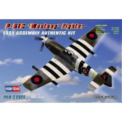NORTH AMERICAN P-51 C MUSTANG - escala 1/72 - HOBBYBOSS 80243