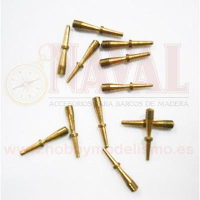 CABILLA METALICA DORADA 6 mm (12 unidades)
