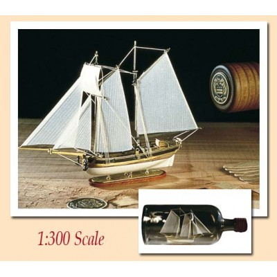 BARCO EN BOTELLA: U.S.S. HANNAH 1/300