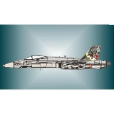 CALCAS EF-18 A HORNET ALA Nº12 (50 Años Torrejon) - Series Españolas SE2972