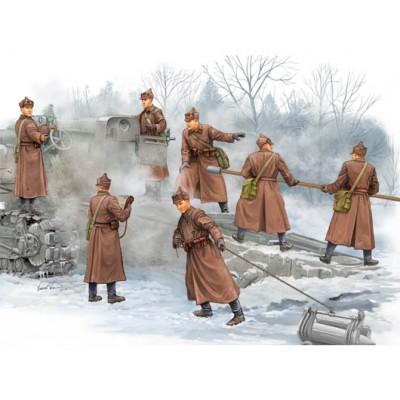 ARTILLEROS SOVIETICOS CAÑON B4 - Trumpeter 00427