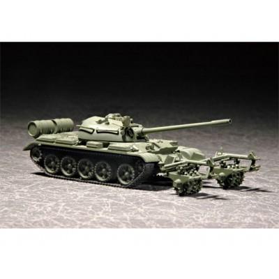 CARRO DE COMBATE T-55 & Quitaminas KMT5 -1/72- Trumpeter 07283